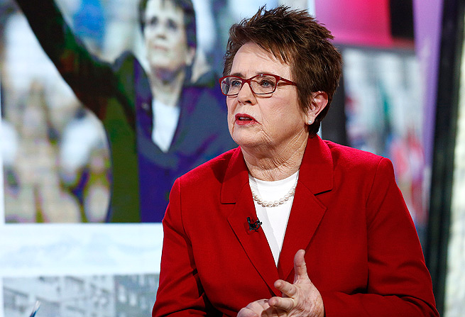 Billie Jean King declined to go to the Sochi Olympics to care for her mother.