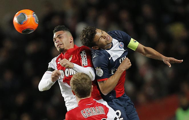 PSG's Thiago Silva (right) capped an otherwise solid display with an own goal in a 1-1 draw.