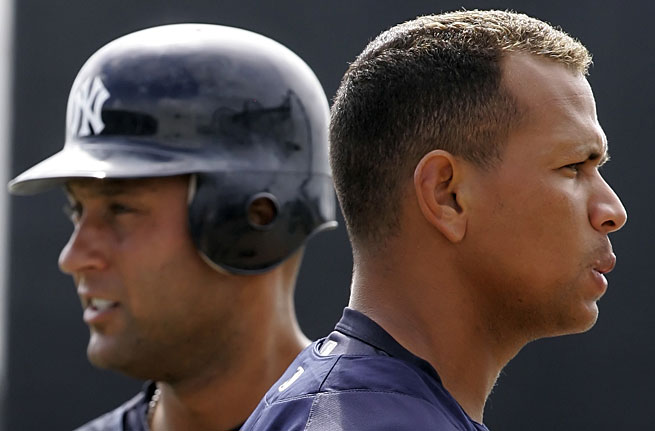 Derek Jeter and Alex Rodriguez have been Yankees teammates for 10 seasons.