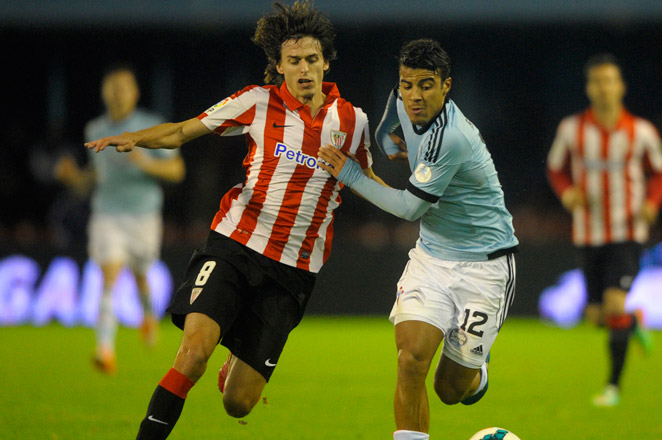 Bilbao stretched out its fourth-place advantage in the Spanish league in its race for the last Champions League place.