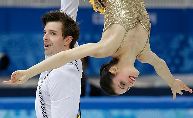Italian pair Stefania Berton and Ondrej Hotarek compete in the short program competition at the Winter Olympics. The duo did not medal.