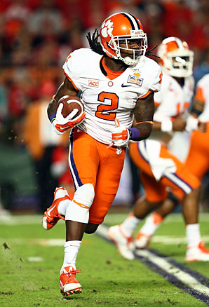 In three seasons at Clemson, Sammy Watkins had 3,391 receiving yards and scored 28 TDs.