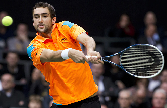Marin Cilic beat second-seeded Andy Murray for only the second time in 11 meetings.