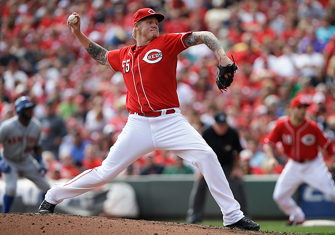 Mat Latos had 14 wins to go with a 3.16 ERA with the Reds last season, his second with the team.