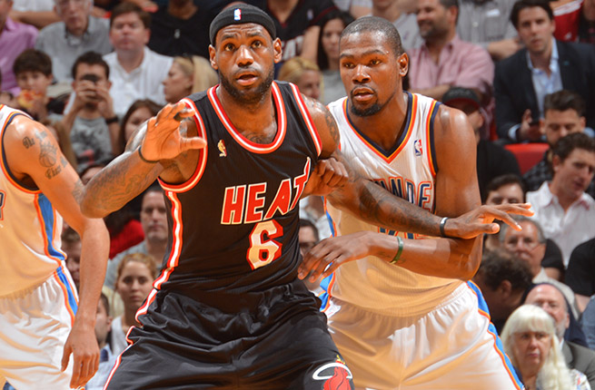 A showdown between LeBron James and Kevin Durant headlines Sunday night's All-Star showcase.