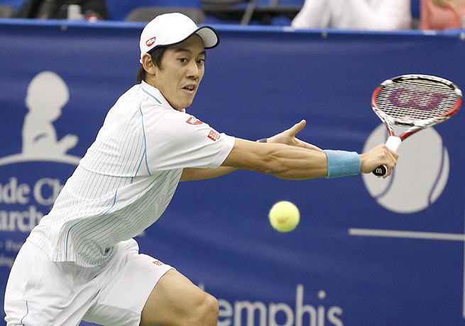 Top seed Kei Nishikori will get a chance to defend his U.S. Indoor title in Memphis.