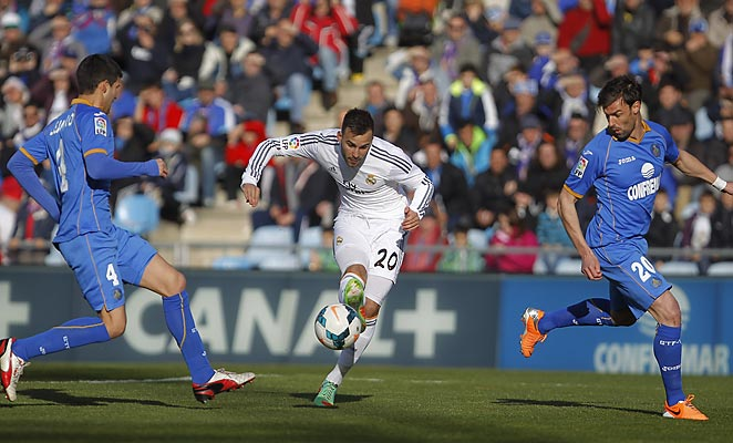 Jese Rogriguez scored for the third straight round as Real Madrid defeated Getafe on Sunday.