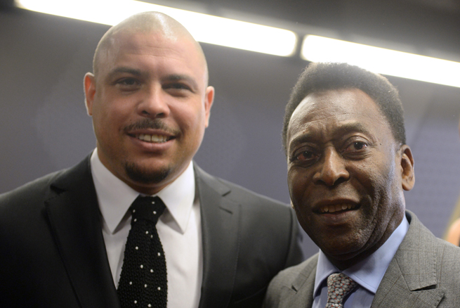 There may not be two names more synonymous with Brazil and its soccer culture than Ronaldo, left, and Pele.
