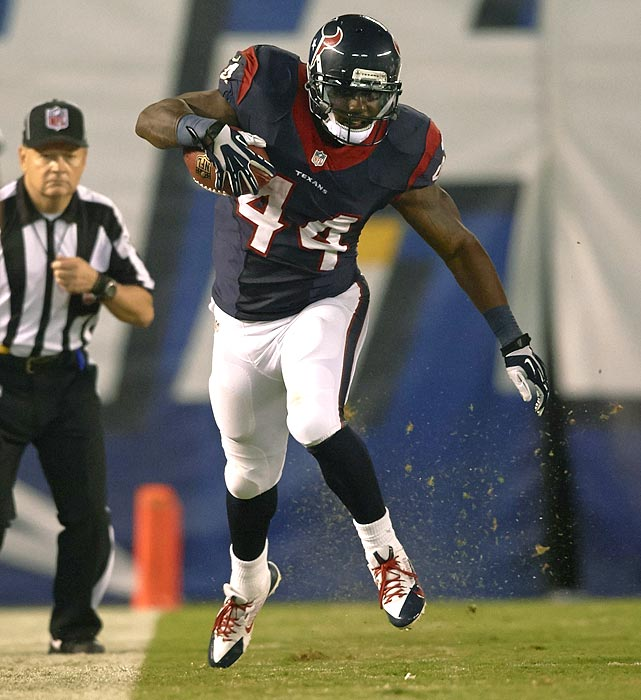 In his three years in the NFL, Tate has been productive when given a chance, averaging 4.7 yards per carry for the Texans. He has languished behind Arian Foster on the depth chart, however, unable to show what he can do over a full season. In 2014, Tate will likely earn more carries with a new team. A number of teams -- including the Browns and Dolphins -- could use Tate's services next season.