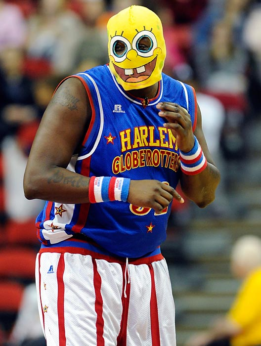 Yet another haunting image, this one from the Harlem Globetrotters' game against the World All-Stars at the Thomas & Mack Center in Las Vegas.