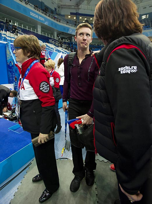 "Figure skating is an expressive sport and Mr. Abbott's expression pretty much sums up his performance in Sochi. ""I think I needed to work out the rust, shake out the demons,"" he explained."
