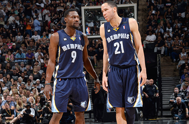 The Grizz are aggressively looking to move Tayshaun Prince (right) and also willing to deal Tony Allen.