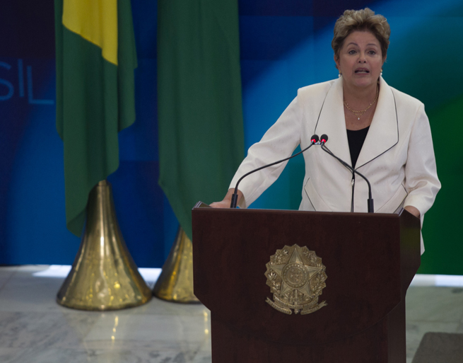 Brazil president Dilma Rousseff has guaranteed to provide the necessary armed forces to combat violent protests during this summer's World Cup.