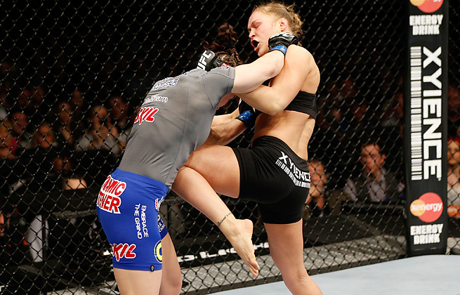Ronda Rousey defeated Sara McMann at UFC 170 without the use of her famed arm bar move.