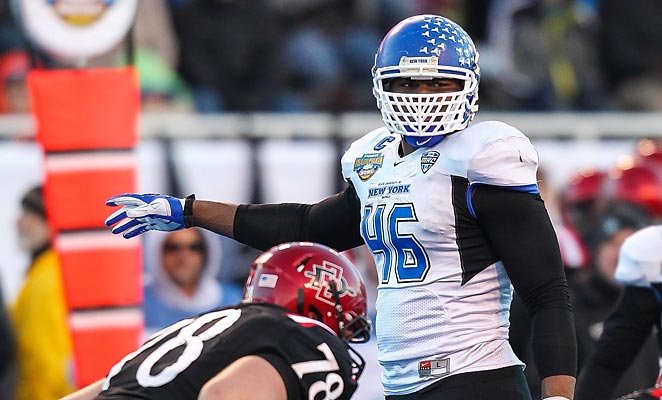 Despite playing at Buffalo, Khalil Mack developed into a highly-regarded NFL prospect this past season.