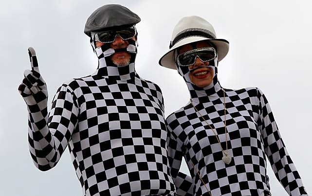This couple was among the most unique on race day.