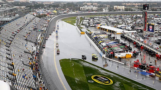 A mid-afternoon look at the track, with more rain on its way.