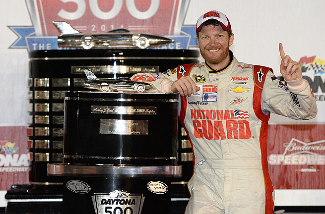 Having struggled since 2006 to get to Victory Lane, Dale Earnhardt. Jr was once again No. 1.