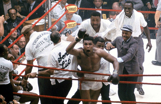 """I shook up the world!"" Clay proclaimed, as he gestured over the ropes at the assembled press corps, virtually every member of which had predicted a Liston victory. He was right, of course -- and over the next decades, as Muhammad Ali, he would continue to it shake up, like no one before or since."