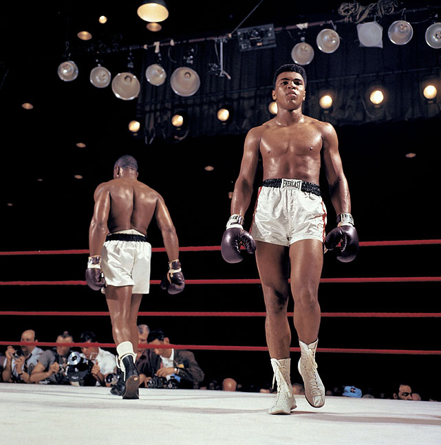 "Already in the opening rounds, it was clear that the challenger -- who had been declared ""terrified"" during the weigh-in -- was in full control of both himself and of the fight. Liston, meanwhile, was obviously frustrated."