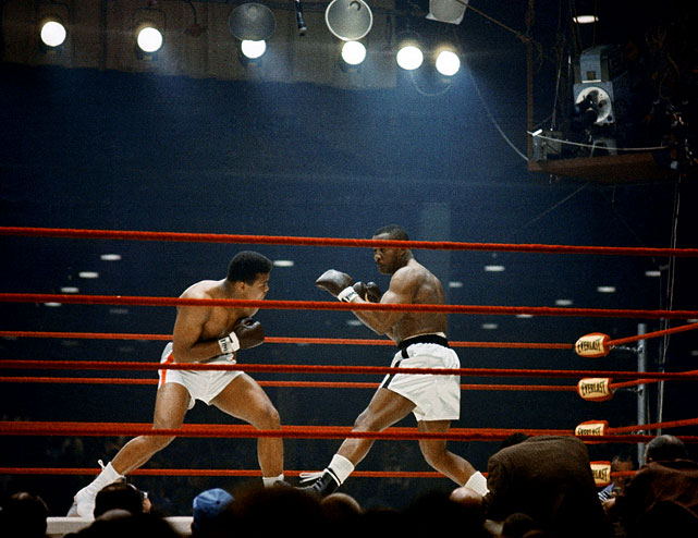 A change was gonna come: On Feb. 25, 1964, Cassius Clay, left, who would later became Muhammad Ali, stepped into the ring against Sonny Liston in Miami Beach, Fla. They met as the nation was on the eve of massive upheaval. Still deep in mourning over the assassination of President John F. Kennedy just three months earlier, the country would be rocked by race riots in major cities in the long, hot summer ahead. Civil rights activism was gearing up, the conflict in Vietnam was moving into U.S. headlines. The young challenger, a 7-1 underdog, represented the unsettling times ahead.