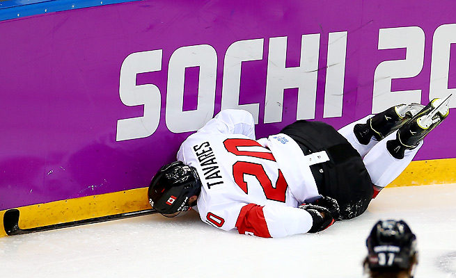 John Tavares tore the MCL in his left knee playing for Team Canada in the Sochi Olympics.