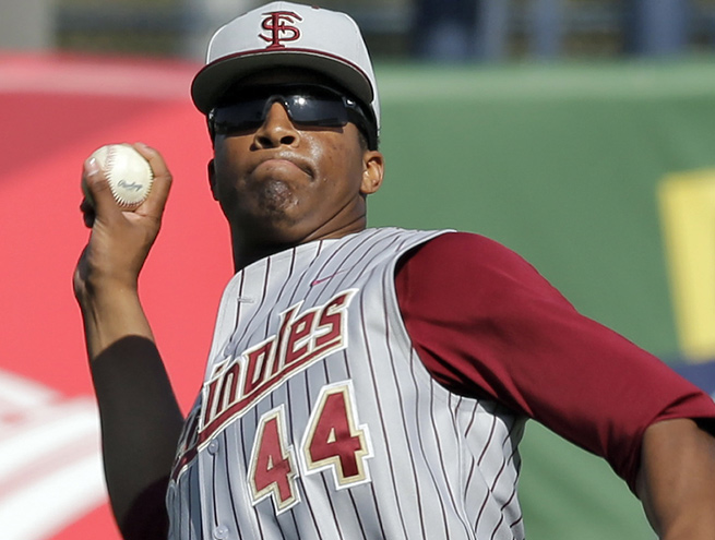 A Heisman winner in football, Jameis Winston is also a player on the Seminoles' baseball team.