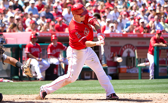 Will 2012 Rookie of the Year Mike Trout continue to perform on a high level for a third season in a row?