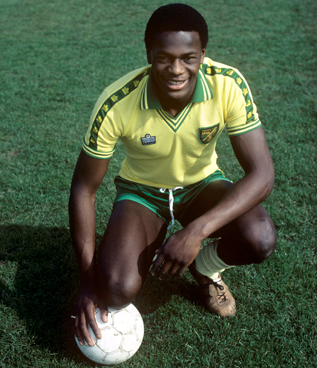Justin Fashanu was a star scorer at Norwich City, earning a lucrative transfer to Nottingham Forest.