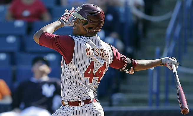 Heisman Trophy winner Jameis Winston is an outfielder and closer for the Florida State baseball team.