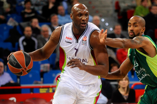 Odom joined the Spanish club Baskonia last week, after being out of contract since the close of the last NBA season.