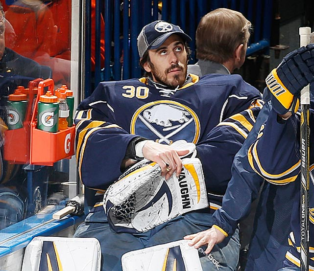 The 2010 Vezina Trophy-winning goalie was the marquee name in Buffalo's expected fire sale ahead of the NHL's March 5 trade deadline. Rumors of an imminent move percolated for the last year, and on Feb. 28 the Sabres dealt the 11-year veteran to the St. Louis Blues for goalie Jaroslav Halak, forward Chris Stewart, QMJHL winger William Carrier, a 2015 first round pick and a 2016 third rounder. -- <italics>Sarah Kwak</italics>