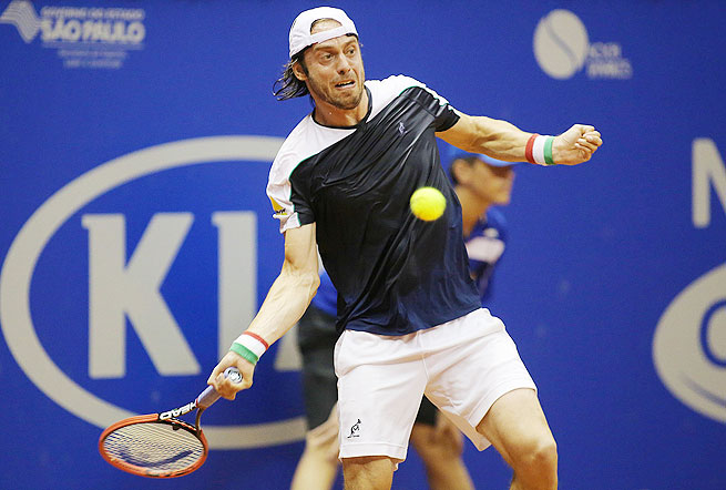 The 114th-ranked Paolo Lorenzi broke Monaco's serve to go up 4-3 in the decisive set.