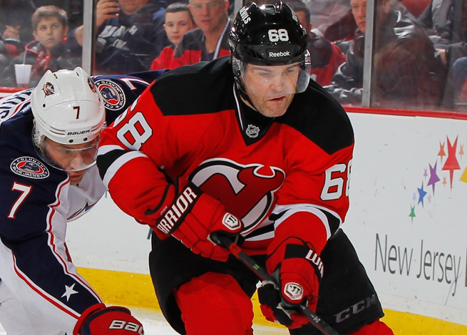 Jaromir Jagr's 19th goal of the season was his 700th in 20 seasons in the NHL.