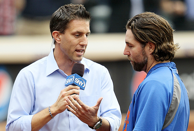 Kevin Burkhardt (left), will continue to cover the New York Mets for SNY this season, in addition to his Fox duties.