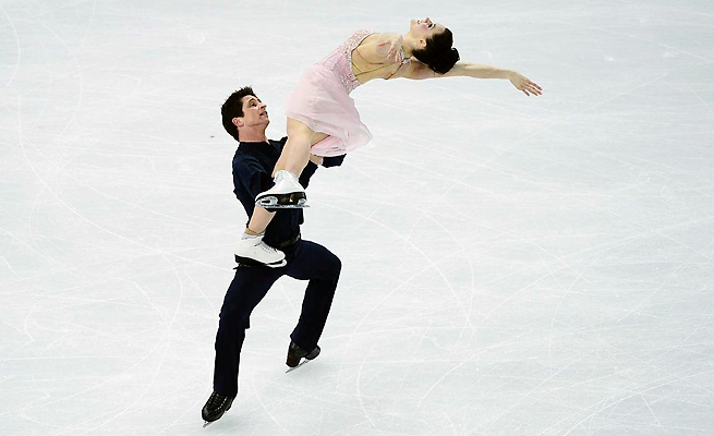 Ice dancers Tessa Virtue and Scott Moir finished second to Meryl Davis and Charlie White in Sochi.