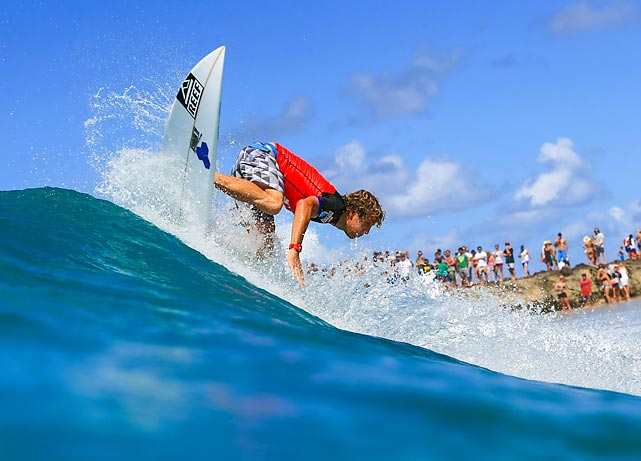 Kai Otton of Australia glides along a wave during the first round of the Quiksilver Pro Gold Coast in Australia.