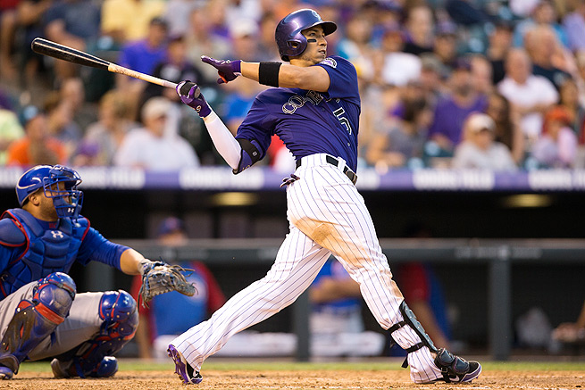 Carlos Gonzalez hit.302 with 26 home runs and 70 RBI last season, despite the Rockies' struggles.