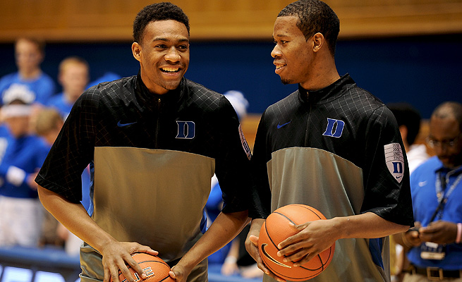 Rodney Hood (right) has thrived playing in Jabari Parker's shadow, and he's Duke's second most dangerous offensive threat.