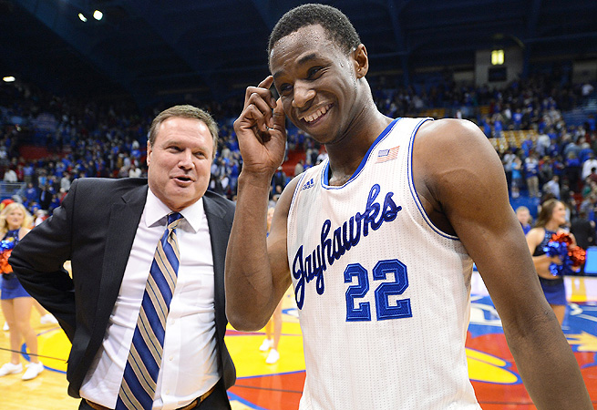 Seth's Big 12 Coach of the Year, Bill Self (L), and Freshman of the Year, Andrew Wiggins.