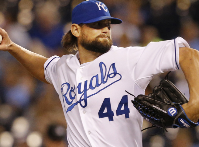 Luke Hochevar posted a 1.92 ERA in 70 1/3 innings out of the bullpen for Kansas City in 2013.