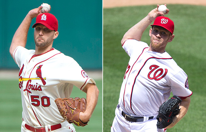 Both Adam Wainwright and Stephen Strasburg will star on fantasy pitching staffs in 2014.