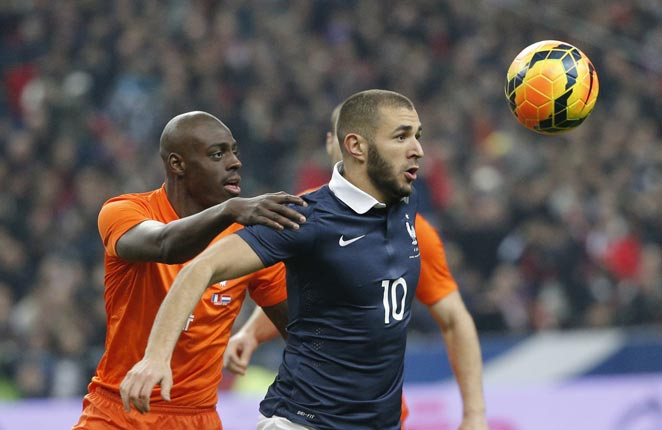 Karim Benzema scored a goal and set up another as France downed the Netherlands 2-0 on Wednesday.