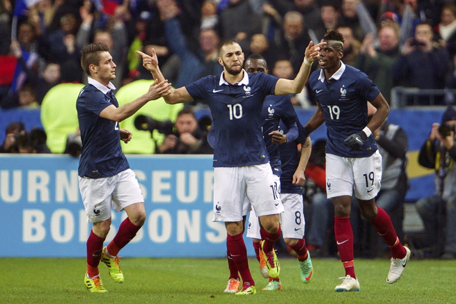 Karim Benzema's (10) showing vs. Netherlands may have cemented his place in France's World Cup starting lineup.