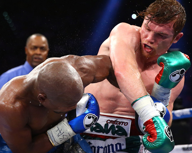 Canelo Alvarez went 12 rounds with Floyd Mayweather, but lost by majority decision.