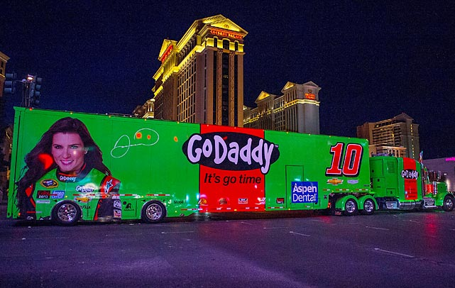 In NASCAR news, Danica Patrick's wheels rolled along Las Vegas Boulevard prior to the Kobalt 400. Her 21st-place finish in the race was one of her better showings on the Cup circuit.
