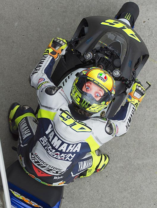 Italy's Valentino Rossi got a head start on the competition during Day Three of testing at Phillip Island Grand Prix Circuit.