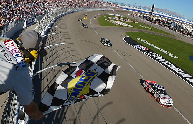 After seven prior attempts, Brad Keselowski won at Las Vegas for his 28th Nationwide victory.