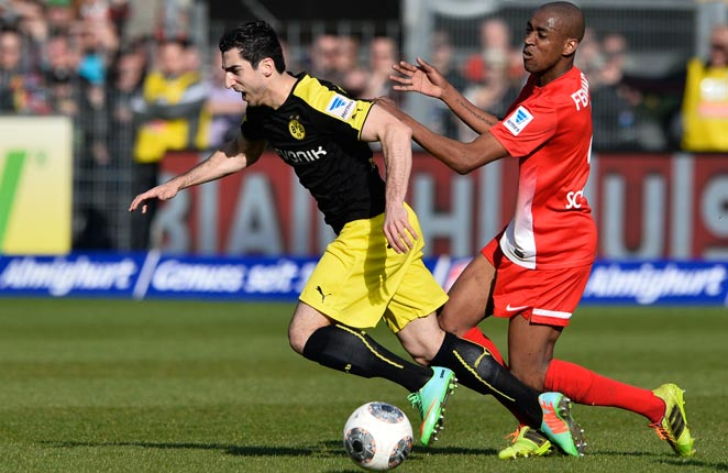 Dortmund's win over Freiburg helped it solidify second-place in the Bundesliga.