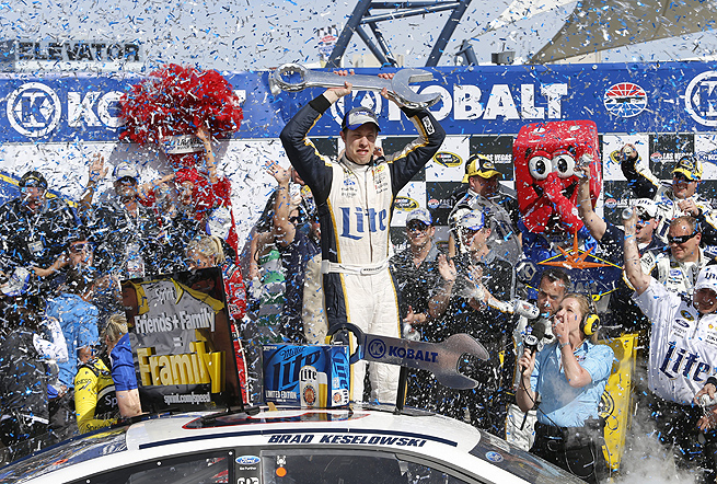 Brad Keselowski, the 2012 Sprint Cup champion, also virtually assured himself of a spot in the Chase this year.